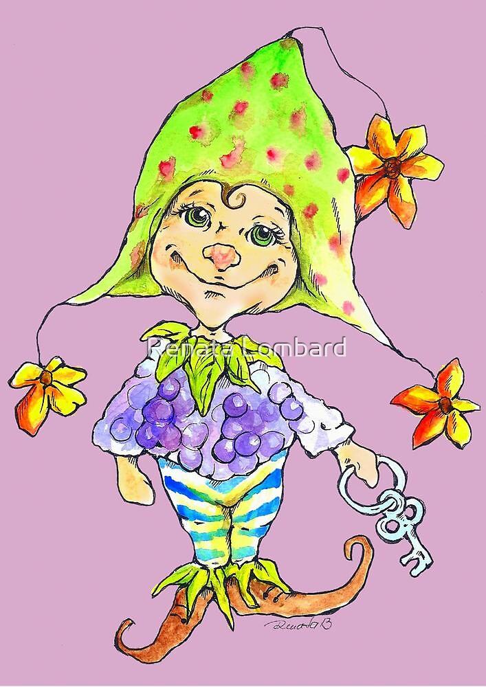Little blackberry fairy by Renata Lombard