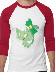 Green Kitty Men's Baseball ¾ T-Shirt