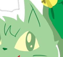 Green Kitty Sticker