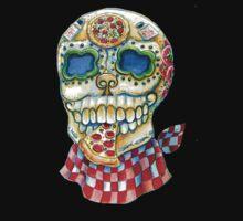 Pizza Sugar Skull by HCalderonArt