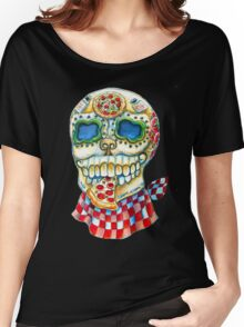 Pizza Sugar Skull Women's Relaxed Fit T-Shirt