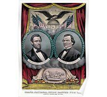 Vintage Civil War Republican Presidential Election Poster