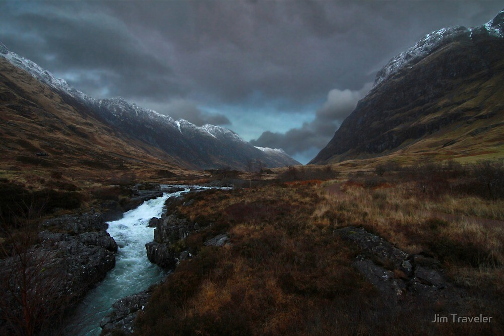 Glencoe Valley - Scotland by Jim Traveler