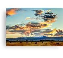 Sunset Madness Over The Colorado Canvas Print