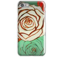 Vintage Style Christmas Roses iPhone Case/Skin