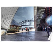 Sydney Opera House and Harbour Bridge Poster