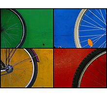 Bike Wheels Photographic Print
