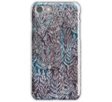 Snow Pines (Blue) iPhone Case/Skin