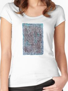 Snow Pines (Blue) Women's Fitted Scoop T-Shirt