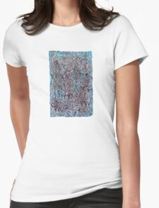 Snow Pines (Blue) Womens Fitted T-Shirt