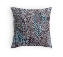 Snow Pines (Blue) Throw Pillow