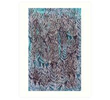 Snow Pines (Blue) Art Print