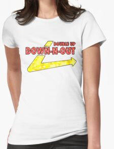 DOWN-N-OUT Womens Fitted T-Shirt