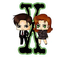 Chibi X Files Photographic Print