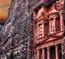 Jordan, Petra, The facade of the Treasury (El Khazneh) Sticker