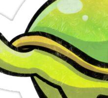 Green Love Turtle Sticker