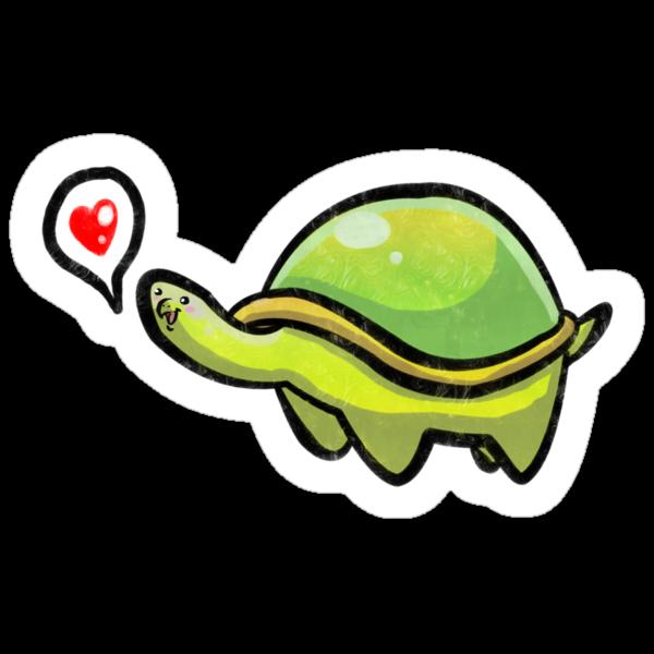 Green Love Turtle by SaradaBoru