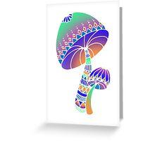 Shroom Inverted - blue/orange/green/purple Greeting Card