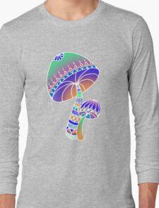 Shroom Inverted - blue/orange/green/purple Long Sleeve T-Shirt