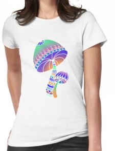 Shroom Inverted - blue/orange/green/purple Womens Fitted T-Shirt