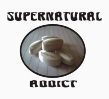 Supernatural Addict (Black Letters) by Enigma2005