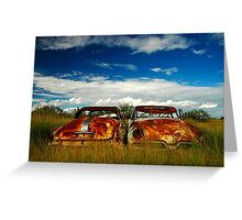 Brothers in Rust Greeting Card