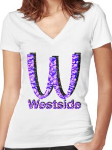 Westside Burgers Women's Fitted V-Neck T-Shirt