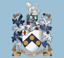 "James Bonds coat-of-arms and family motto ""The world is not enough""  Kids Clothes"