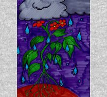 Rain Can't Stop the Flower Power Unisex T-Shirt