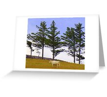 The Cow And The Lonesome Pines Greeting Card
