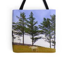 The Cow And The Lonesome Pines Tote Bag