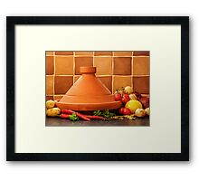 Tagine With Vegetables Seeds Fruits And Spices Framed Print