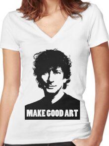 Make Good Art Women's Fitted V-Neck T-Shirt