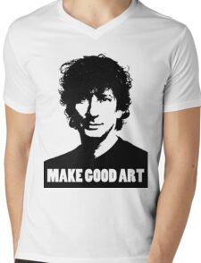 Make Good Art Mens V-Neck T-Shirt