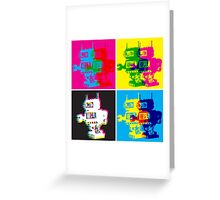 CMYK Robots Greeting Card