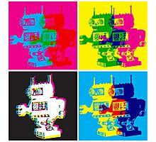 CMYK Robots Photographic Print