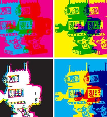CMYK Robots Sticker