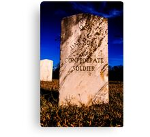 Unknown Confederate Soldier Canvas Print
