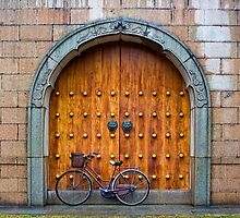 Chinese Bike and Door by Heike Richter