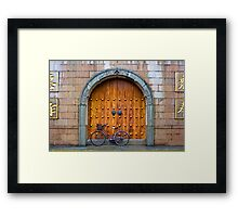 Chinese Bike and Door Framed Print