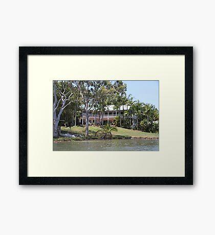 Riverside Queenslander Framed Print