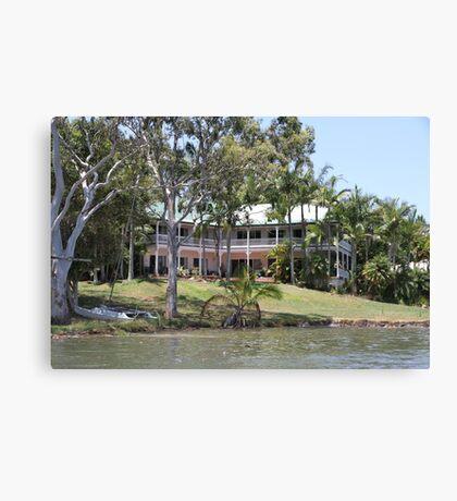 Riverside Queenslander Canvas Print
