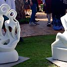 Sculpture at Whepstead Manor Open Day by Vanessa Pike-Russell