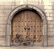 Chinese Bike and Door, 2nd study by Heike Richter