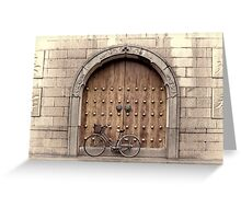 Chinese Bike and Door, 2nd study Greeting Card