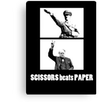 SCISSORS beats PAPER Canvas Print