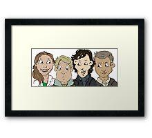 Sherlock group Framed Print