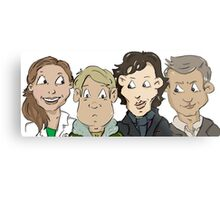 Sherlock group Metal Print