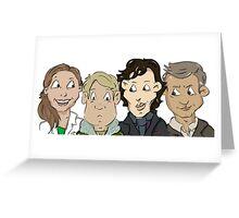 Sherlock group Greeting Card