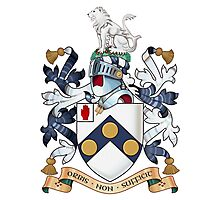 "James Bonds coat-of-arms and family motto ""The world is not enough""  Photographic Print"